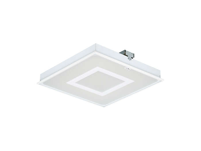 SmartBalance recessed RC482B LED luminaire with inner masking and ActiLume, module size 625 (visible profile ceiling version)