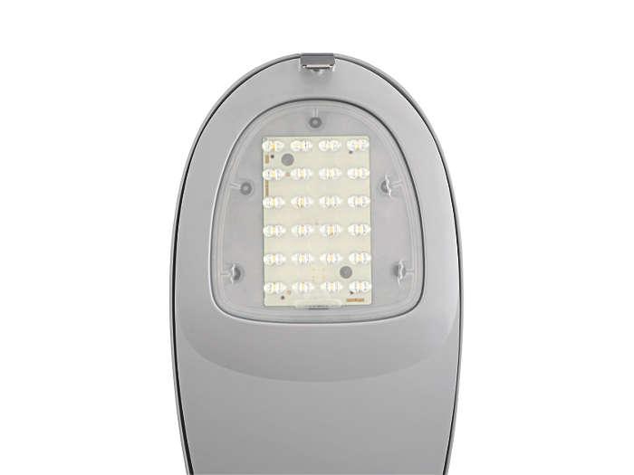 De LED-module / 16 of 24 LED's geactiveerd