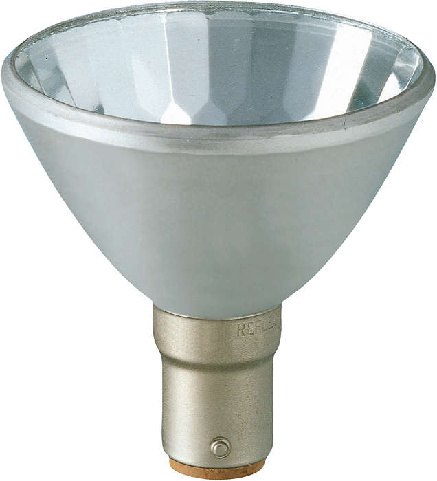 Crisp halogen spot light from aluminum-cast reflector