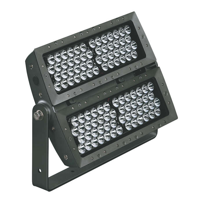 eColor Reach Powercore – premium long-throw compact exterior LED floodlight with intelligent colored light