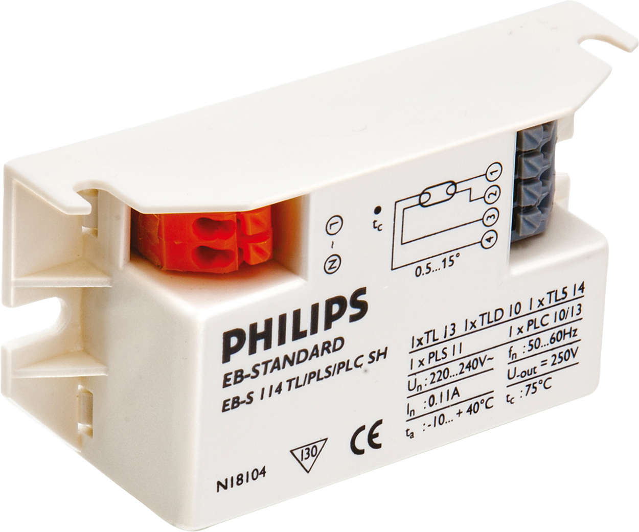 Micropower electronic ballast for TL/PL-S/-T/-C lamps