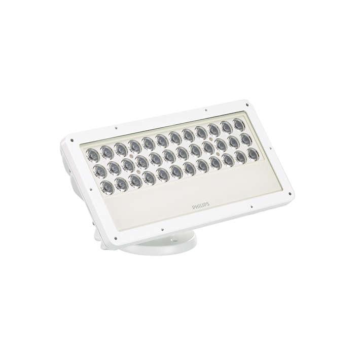 ColorBlast IntelliHue Powercore gen4 - Customizable exterior LED flood fixture with intelligent color light