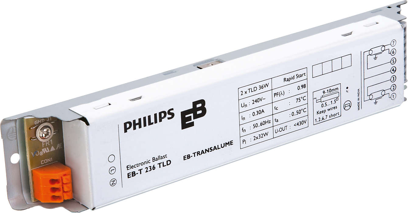 EB-T Electronic ballasts for TL-D lamps (India)