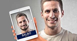 Prøv en ny skægstil med Philips Grooming App