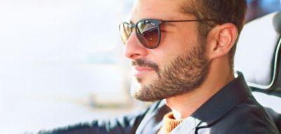 raka linjer skägg