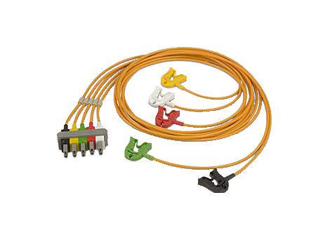 5-adriges Sicherheitskabel mit Clips für den OP Elektrodenkabel