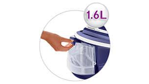 Detachable 1.6 l water tank