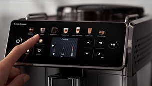 Z vmesnikom Coffee Equalizer™ lahko izberete želeno nastavitev za pripravo kave