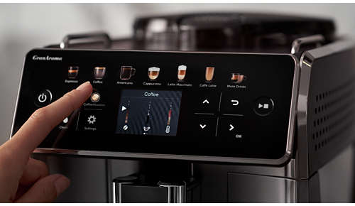 Cu CoffeeEqualizer™, personalizaţi până la 5 setări de preparare a cafelei