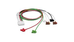 6-adr. EKG-Pat.kabel Clip AAMI ITS Extremitäten