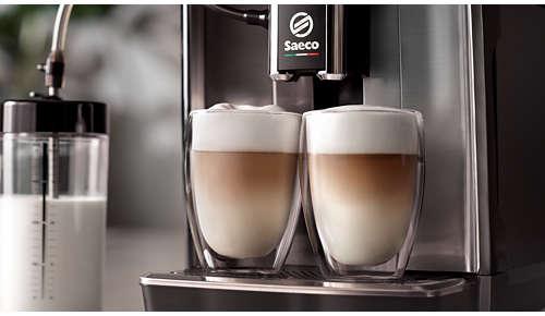 LatteDuo: bucuraţi-vă de porţii duble de cafea preparată după reţeta dvs. preferată, cu o singură atingere