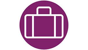 Pratico da usare, riporre e portare in viaggio grazie al design compatto