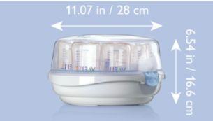 Легкая конструкция для стерилизации детских бутылочек в дороге