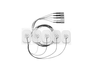 Adult disposable radiolucent 5 electrode lead set Electrode