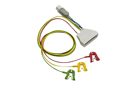 Patient Cable ECG 3-lead Grabber Telemetry Lead Set