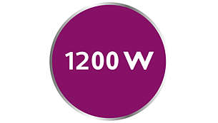 Power up to 1200 W enabling constant high steam output