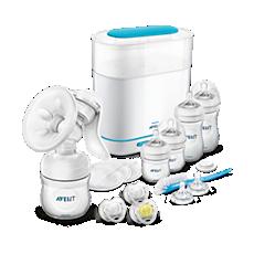 SCD293/00 Philips Avent Handmilchpumpen-Set mit Sterilisator
