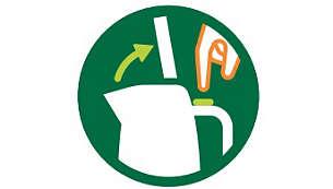Fjädrat lock med stor öppning för enkel rengöring