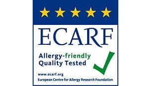 ได้รับการรับรองหรือทดสอบโดย AHAM, ECARF และ Airmid