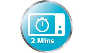 Ångsterilisator för mikro klart på bara 2 minuter