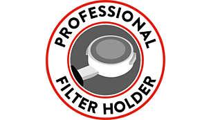 Professionele filterhouder voor consistente koffietemperatuur
