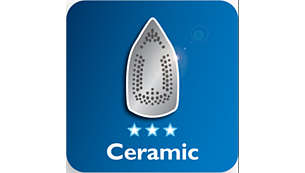 Ceramic soleplate for better gliding performance