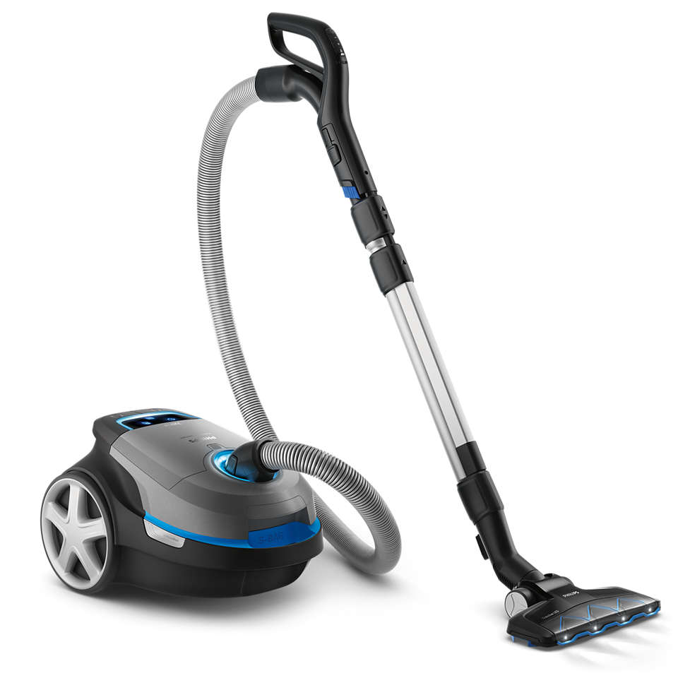High suction power. For a deep clean.