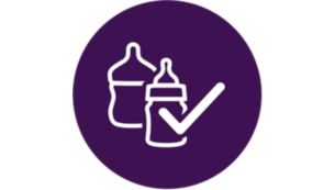Compatible with most leading bottle and baby food jar brands