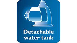 خزان ماء شفاف وقابل للفك مزوّد بمدخل صحي للمياه