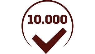 Machine is > 10.000 keer getest om een consistente kwaliteit te garanderen