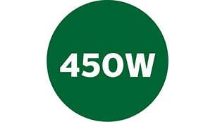Krachtige motor van 450W voor een fijn resultaat
