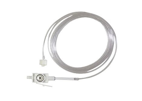 LoFlo etCO2 Straight Sample Line with Male Luer Capnography