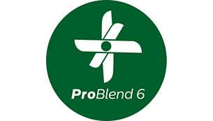 Tecnología ProBlend 6 para batir más fino