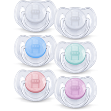 SCF170/22 Philips Avent Classic Translucent Pacifier 6-18m, 2 pack