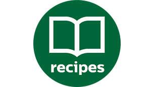 Honderden recepten in de app en het gratis meegeleverde receptenboek