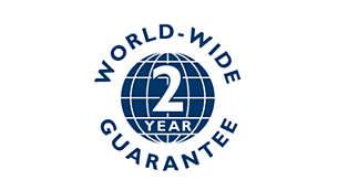 2 year world-wide warranty