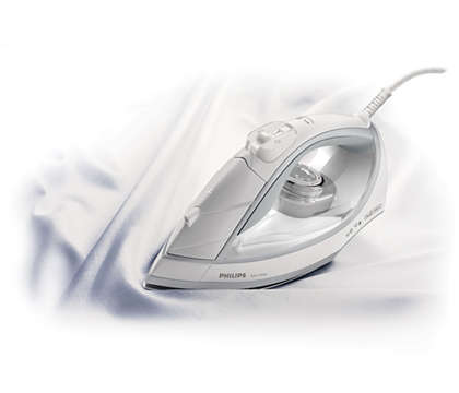 Removes creases easily from cotton and linen