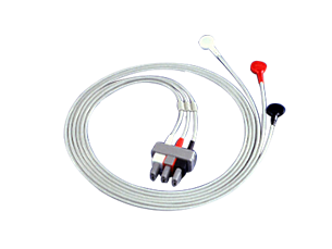 Cbl Shielded 3-Ld snaps safety AAMI cable Lead Set