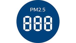 การแสดงสถานะ PM2.5 แบบเรียลไทม์และไฟ AQI 4 สี