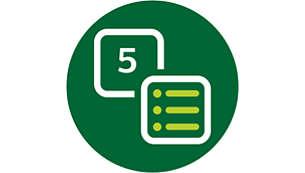 Schermo di interfaccia digitale con 5 modalità preprogrammate