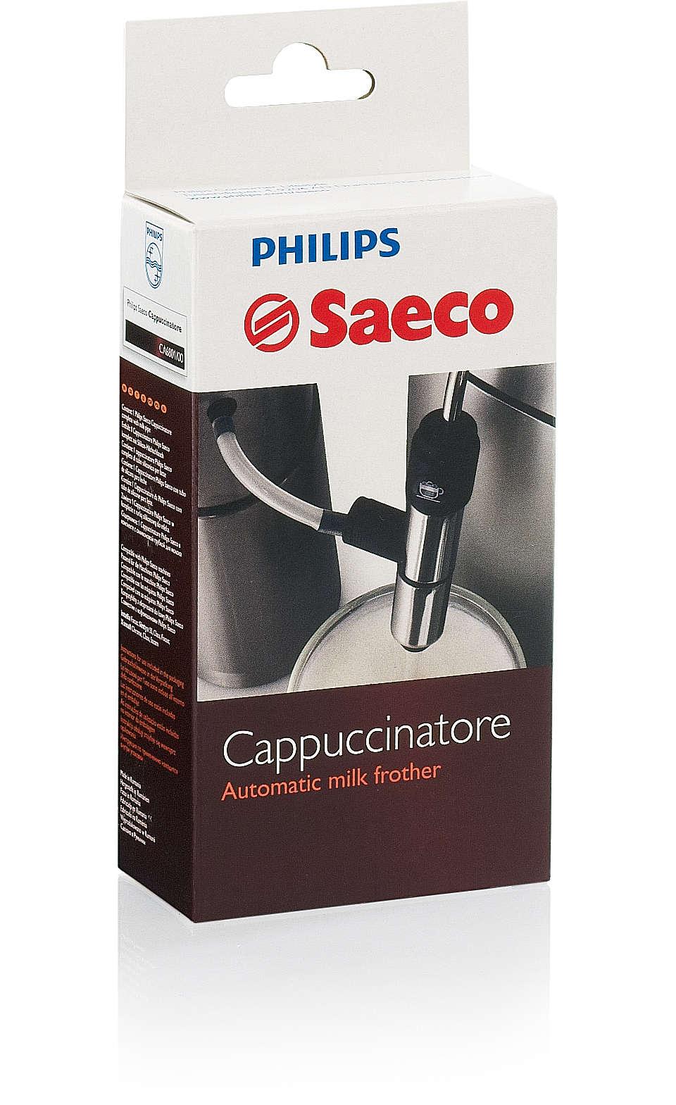 The original Italian Cappuccinatore for your Saeco