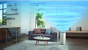Nagy teljesítmény akár 73 m²-es helyiségekhez