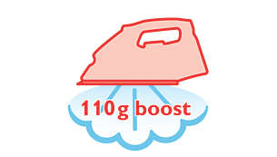 110 g steam boost to remove stubborn creases easily