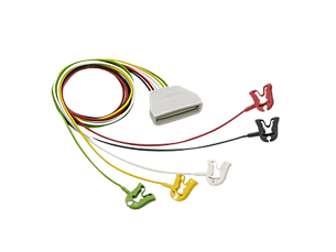 5-adriges EKG-Patientenkabel mit Clip Telemetrie-Elektrodenkabel