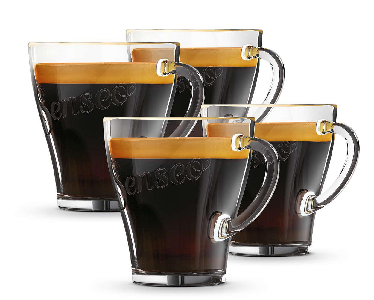 Geniet van uw SENSEO® koffie in uw favoriete kopjes