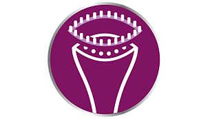 Accessorio spazzola per i tessuti più spessi