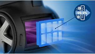 Il filtro Allergy H13 cattura oltre il 99,9% delle polveri sottili