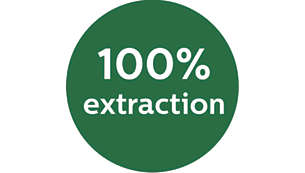 100% extraction of pulpy juice