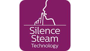 Silent steam technology: Powerful steam with minimum sound
