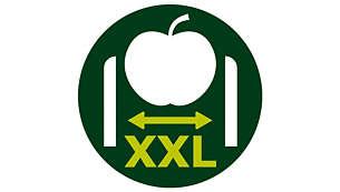Otwór na produkty w rozmiarze XXL (80 mm)